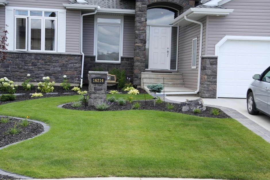 Garden Design Ideas For Acreage : Design including patio with walkways and flower garden ideas