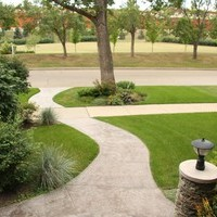Front yard landscaping ideas for the garden design of a mature lot.
