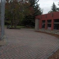 Commercial Landscaping at St. Albert Tennis Club including patio design