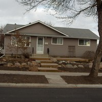 Beautiful bungalow landscaping front yard design including walkways.