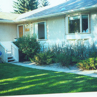 Picture of a bungalow landscaping design before utilizing a plan from Earthworm Landscape Design.